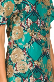 Hipanema |  Printed dress with glitter sequins Bangui | green  | Picture 7