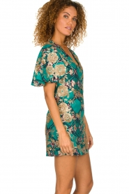 Hipanema |  Printed dress with glitter sequins Bangui | green  | Picture 5