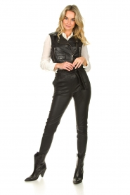 STUDIO AR BY ARMA |  Leather waistcoat Moon | black  | Picture 3