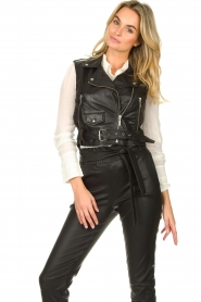STUDIO AR BY ARMA |  Leather waistcoat Moon | black  | Picture 4