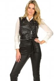 STUDIO AR BY ARMA |  Leather waistcoat Moon | black  | Picture 2