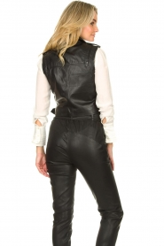 STUDIO AR BY ARMA |  Leather waistcoat Moon | black  | Picture 6