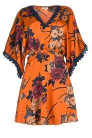 Hipanema |  Floral dress Tinos | orange  | Picture 1