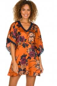 Hipanema |  Floral dress Tinos | orange  | Picture 4