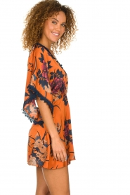 Hipanema |  Floral dress Tinos | orange  | Picture 6