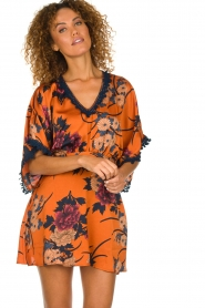 Hipanema |  Floral dress Tinos | orange  | Picture 5
