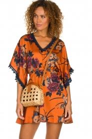 Hipanema |  Floral dress Tinos | orange  | Picture 2