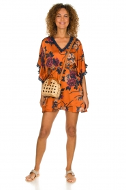 Hipanema |  Floral dress Tinos | orange  | Picture 3