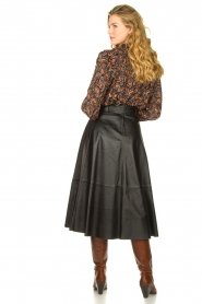STUDIO AR BY ARMA | Belted leather midi skirt Romee | black  | Picture 7