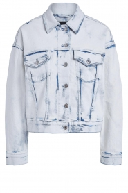 Set |  Denim jacket with washed print Ellen | blue  | Picture 1