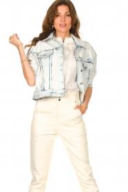 Set |  Denim jacket with washed print Ellen | blue  | Picture 2