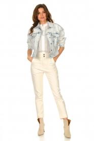 Set |  Denim jacket with washed print Ellen | blue  | Picture 3