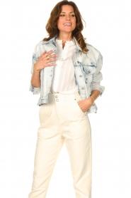 Set |  Denim jacket with washed print Ellen | blue  | Picture 5