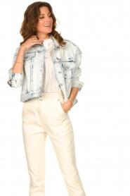 Set |  Denim jacket with washed print Ellen | blue  | Picture 4