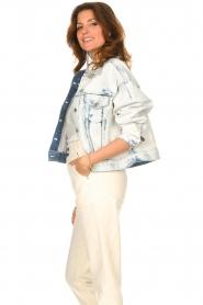 Set |  Denim jacket with washed print Ellen | blue  | Picture 6