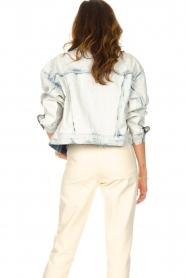 Set |  Denim jacket with washed print Ellen | blue  | Picture 7