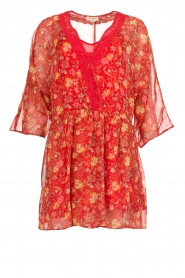 Hipanema |  Floral dress Baldo | red  | Picture 1