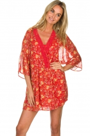 Hipanema |  Floral dress Baldo | red  | Picture 2