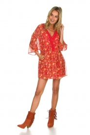 Hipanema |  Floral dress Baldo | red  | Picture 3