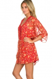 Hipanema |  Floral dress Baldo | red  | Picture 4