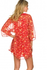 Hipanema |  Floral dress Baldo | red  | Picture 5