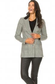 Silvian Heach |  Checkered blazer Beatar | black  | Picture 4