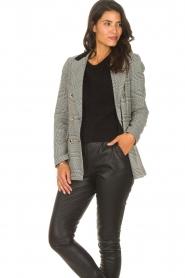 Silvian Heach |  Checkered blazer Beatar | black  | Picture 5