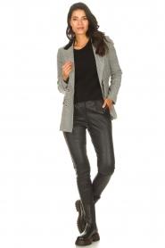 Silvian Heach |  Checkered blazer Beatar | black  | Picture 3