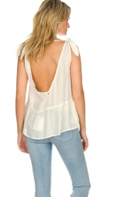 Hipanema |  Lurex striped top Erin | white  | Picture 5