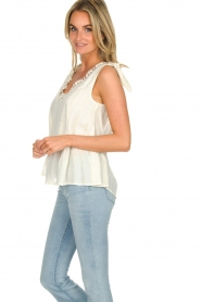 Hipanema |  Lurex striped top Erin | white  | Picture 4