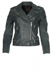 STUDIO AR BY ARMA | Leather biker jacket Kyra | blue  | Picture 1