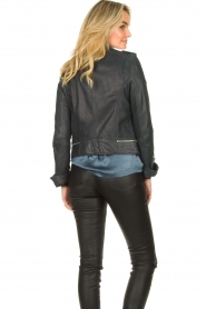STUDIO AR BY ARMA | Leather biker jacket Kyra | blue  | Picture 6