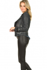 STUDIO AR BY ARMA | Leather biker jacket Kyra | blue  | Picture 5