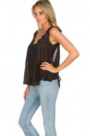 Hipanema |  Lurex striped top Erin | black  | Picture 4