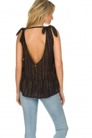 Hipanema |  Lurex striped top Erin | black  | Picture 5