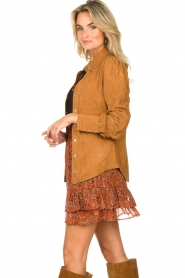 STUDIO AR BY ARMA |  Suede blouse Jade | camel  | Picture 6