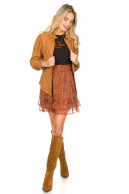 STUDIO AR BY ARMA |  Suede blouse Jade | camel  | Picture 5