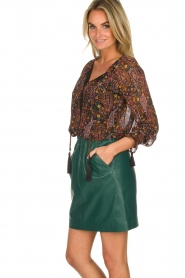 Hipanema |  Floral blouse Jerico | black  | Picture 4