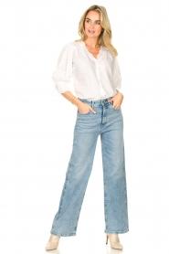 Lois Jeans |  Wide leg stretch jeans Rachel | blue  | Picture 4