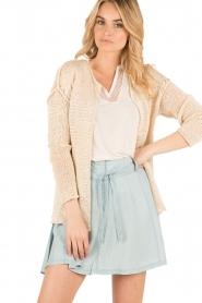 Aaiko |  Crochet cardigan Tiziana | beige  | Picture 2