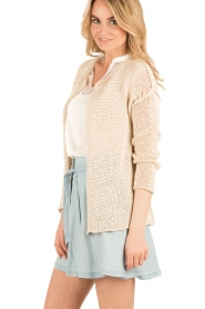 Aaiko |  Crochet cardigan Tiziana | beige  | Picture 4