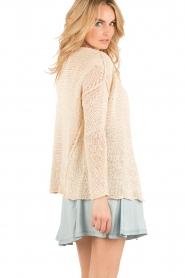 Aaiko |  Crochet cardigan Tiziana | beige  | Picture 5
