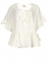 Hipanema |  Ruffle blouse Voltige | white  | Picture 1