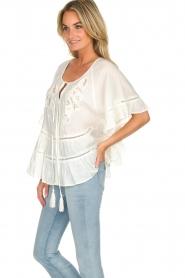 Hipanema |  Ruffle blouse Voltige | white  | Picture 4