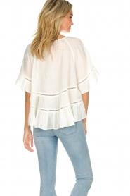Hipanema |  Ruffle blouse Voltige | white  | Picture 5