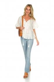 Hipanema |  Ruffle blouse Voltige | white  | Picture 3