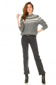 Lois Jeans | High waist straight leg ankle jeans River | zwart  | Afbeelding 4