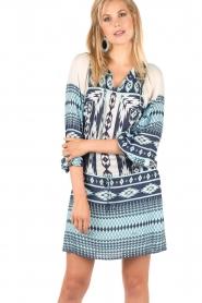 Printed dress Morvan | blue
