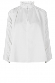 Second Female |  Blouse with open collar Addison | white  | Picture 1