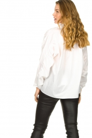 Second Female |  Blouse with open collar Addison | white  | Picture 7